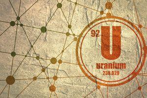 Concept art of the element Uranium