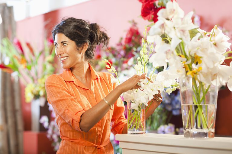 Flower shop owner