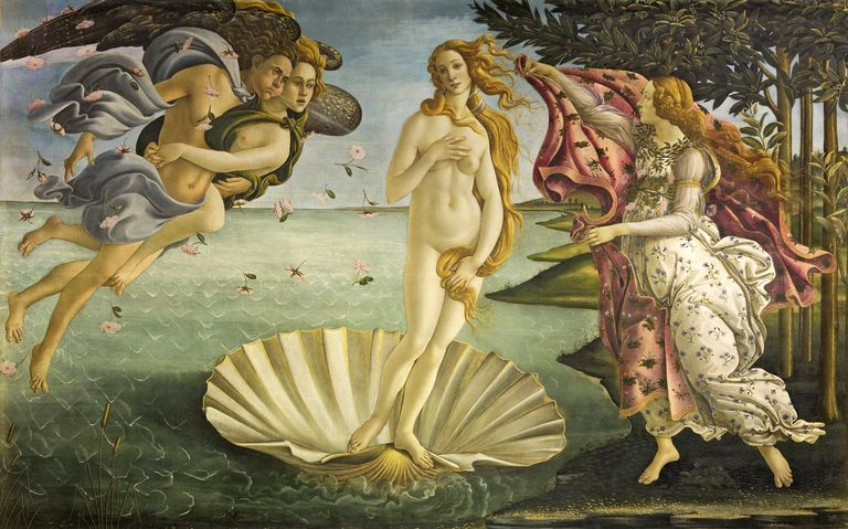 """The Birth of Venus"" painting by Botticelli."