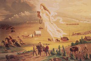 The painting American Progress by John Gast