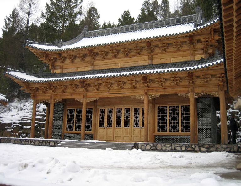 A snowy building in Manchuria.