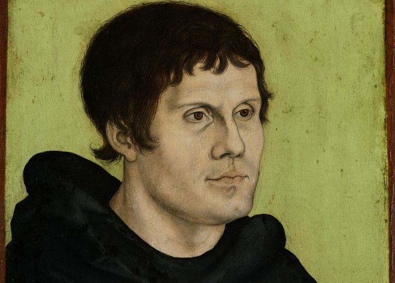 Color portrait of Martin Luther.