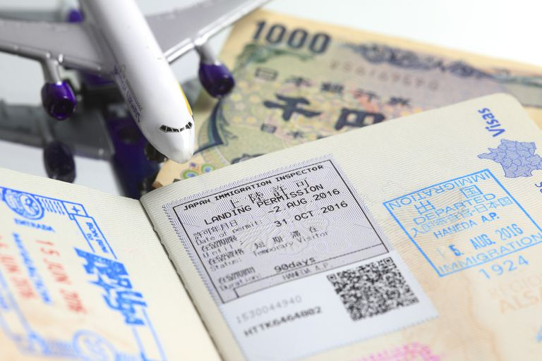 Japanese visa on french passport