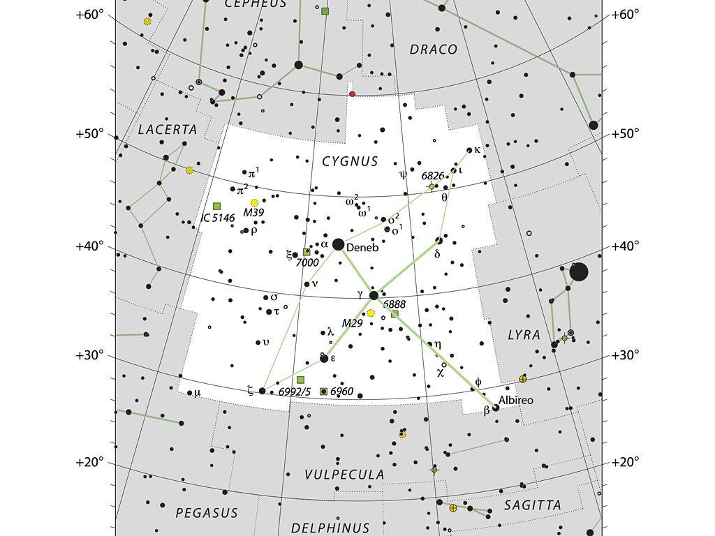 The Constellation of Cygnus the swan.