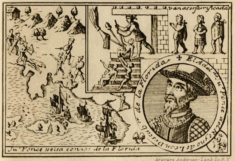 Ponce de Leon's travel to Florida
