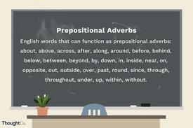 Prepositional Adverb