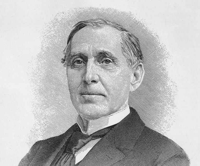Engraved portrait of financier Russell Sage