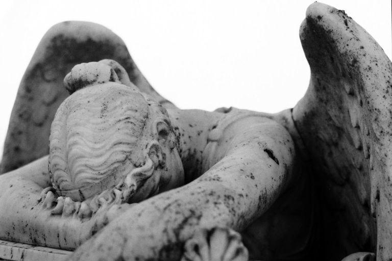 Fallen Angel Statue -- Detail
