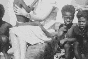 Margaret Mead with children