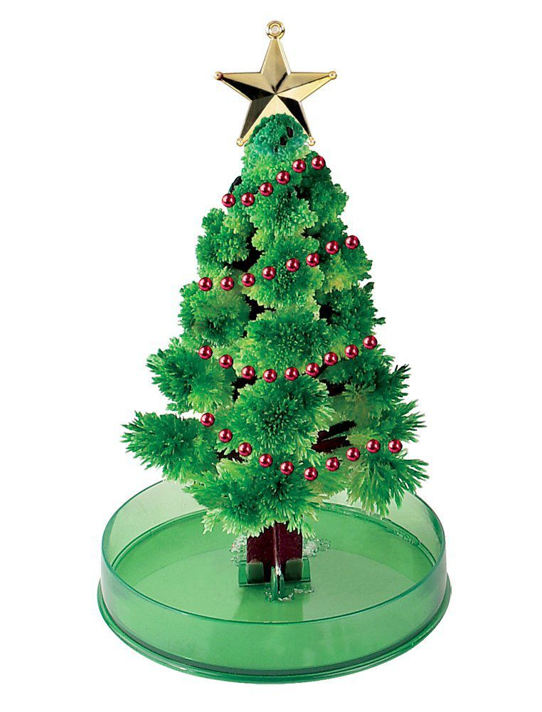 Grow a magic crystal christmas tree you can make the crystal tree yourself or grow it from a kit solutioingenieria Gallery