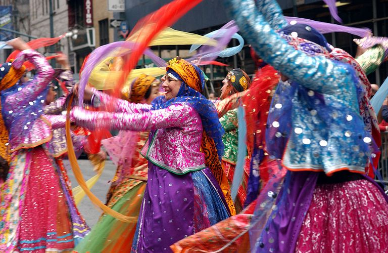 Persian Dancers Performing in Traditional Clothes in NY