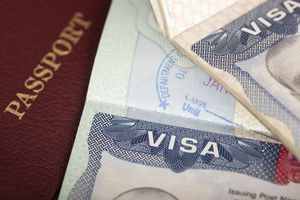 passport and US visa background