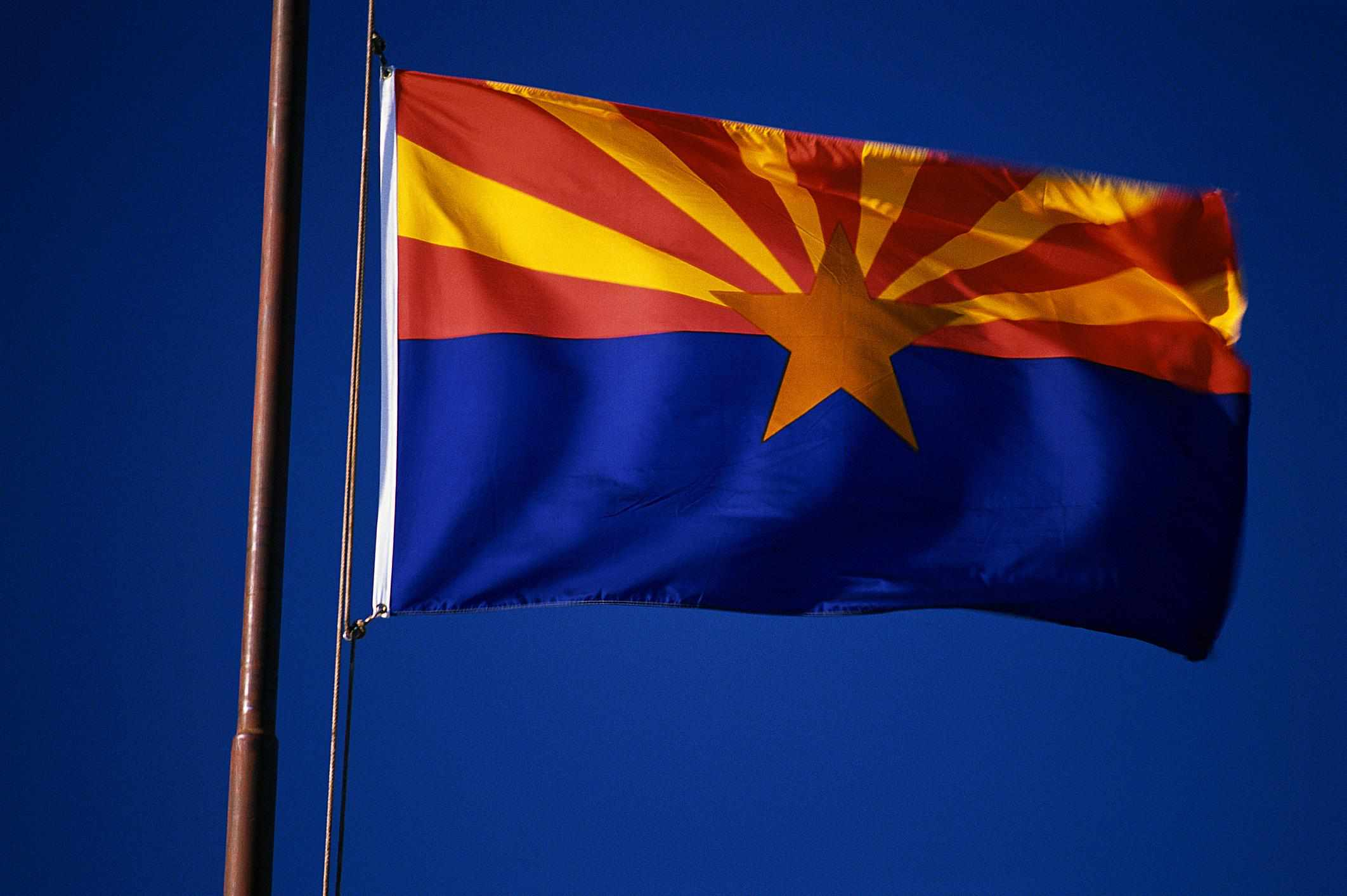 Arizona flag - Fotosearch - GettyImages-124287264