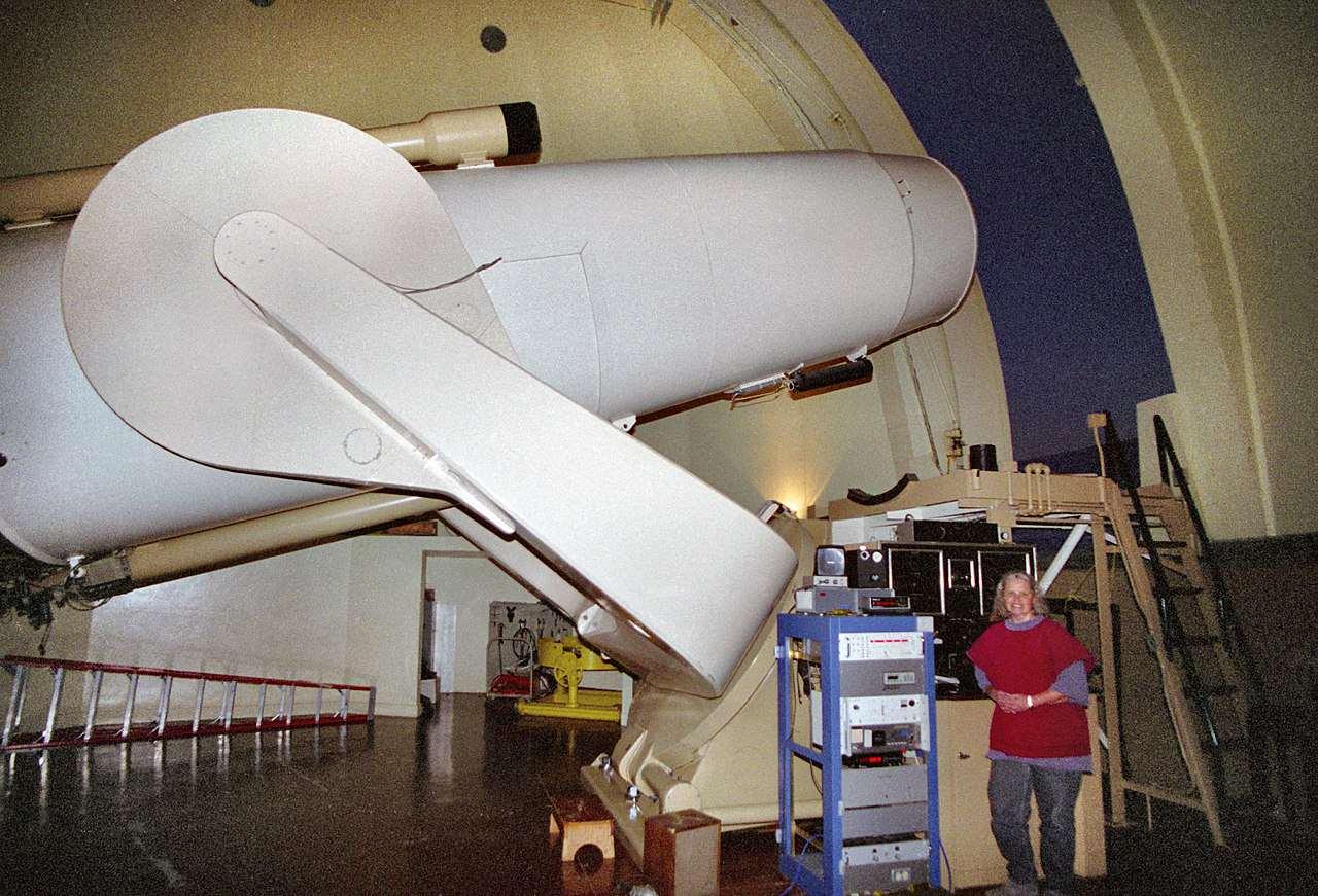 El telescopi Samuel Oschin a l'Observatori Palomar.