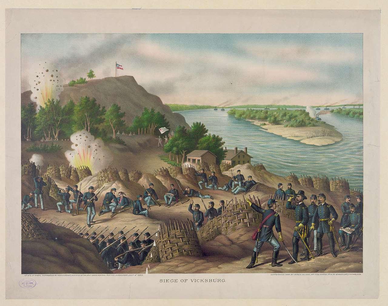 Siege of Vicksburg Lithograph