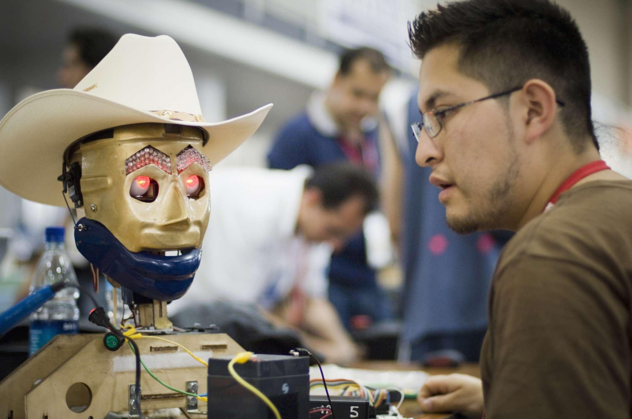 Competición de robótica en Georgia Tech.