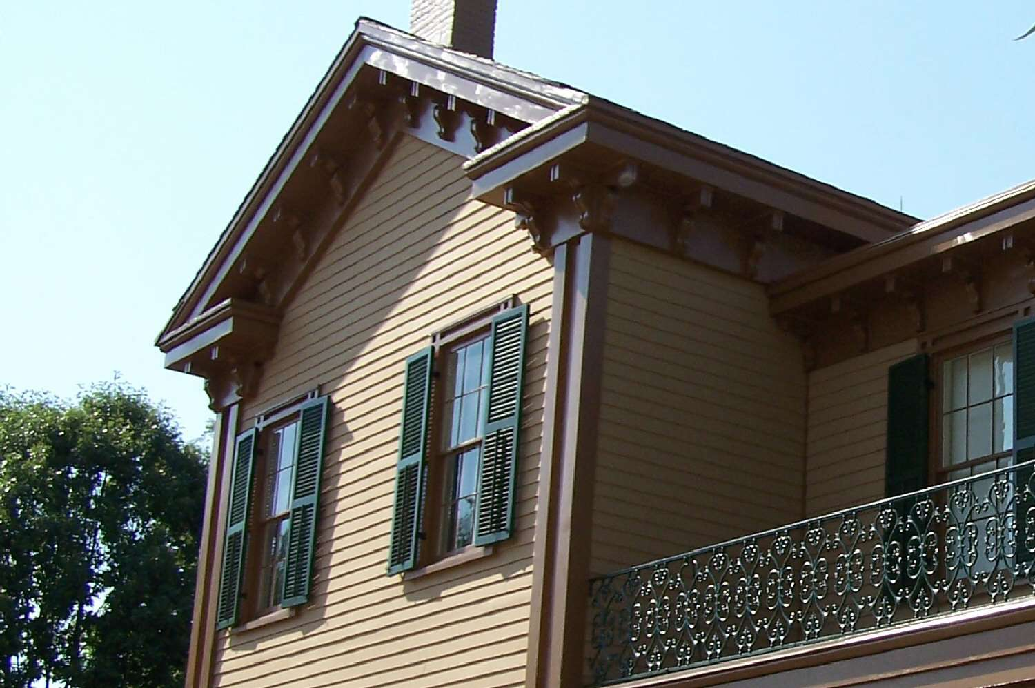 Upper floor detail of Abraham Lincoln's home in Springfield, Illinois