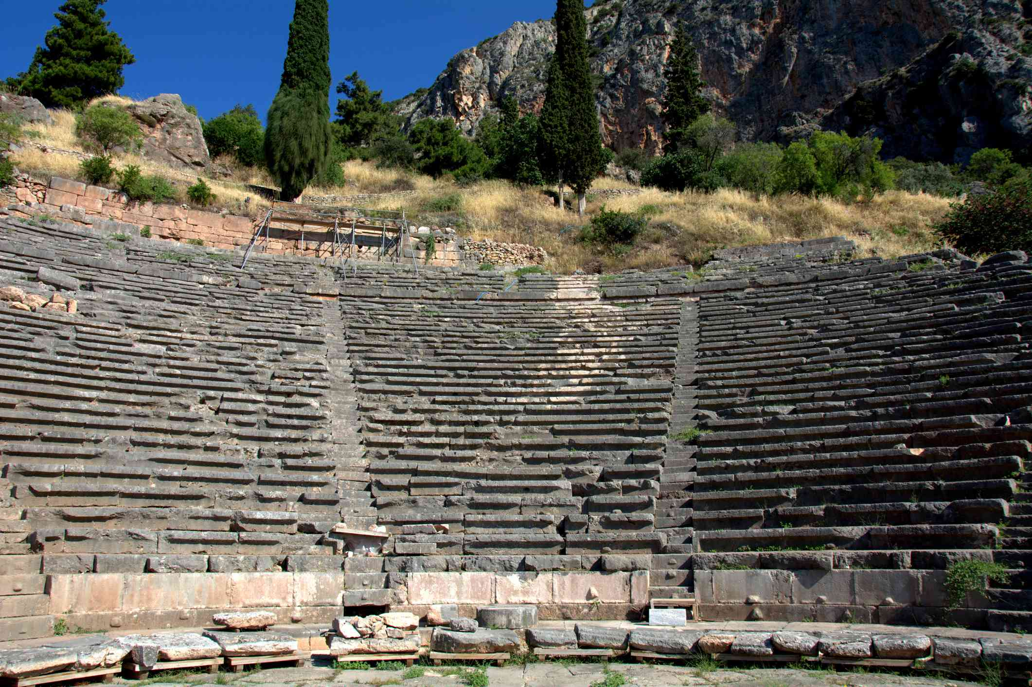 Theater of the archaeological site of Delphi