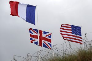 French, British, and American Flags