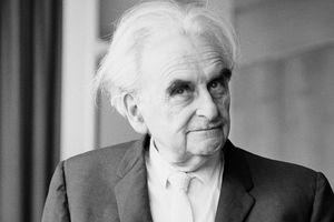 Black and white photo of Austrian-American Architect Richard Neutra, c. 1969