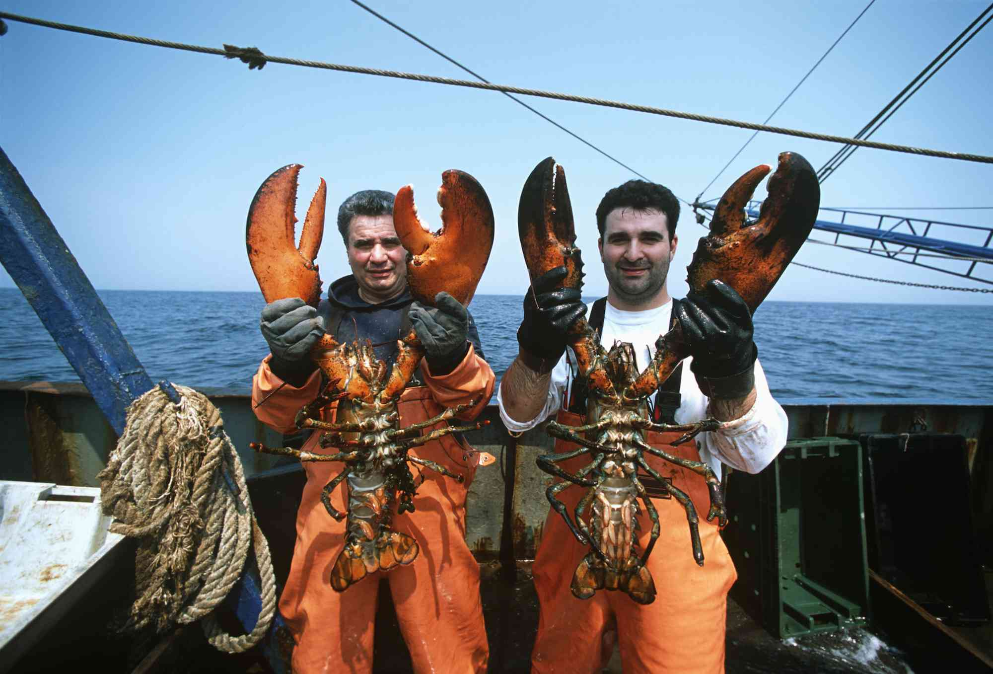 Fishermen and 15 lb lobster
