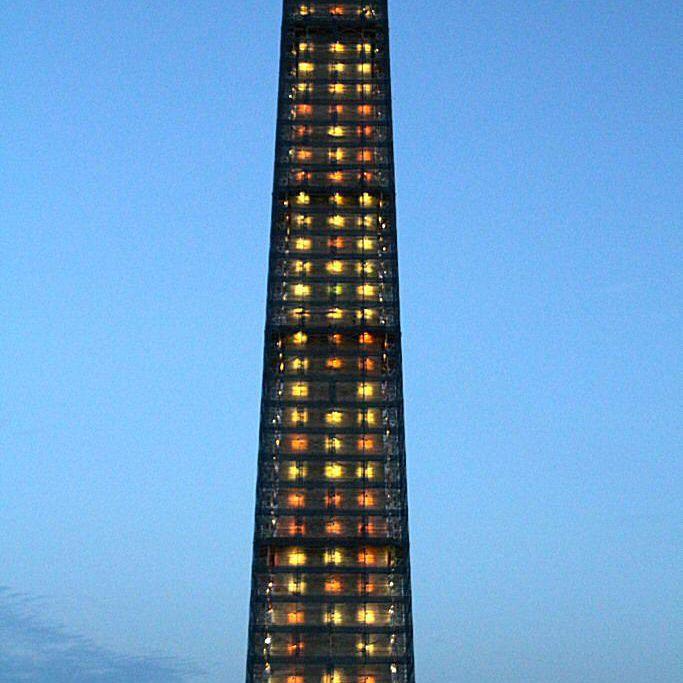 Washington Monument illumination designed by Michael Graves, July 8, 2013