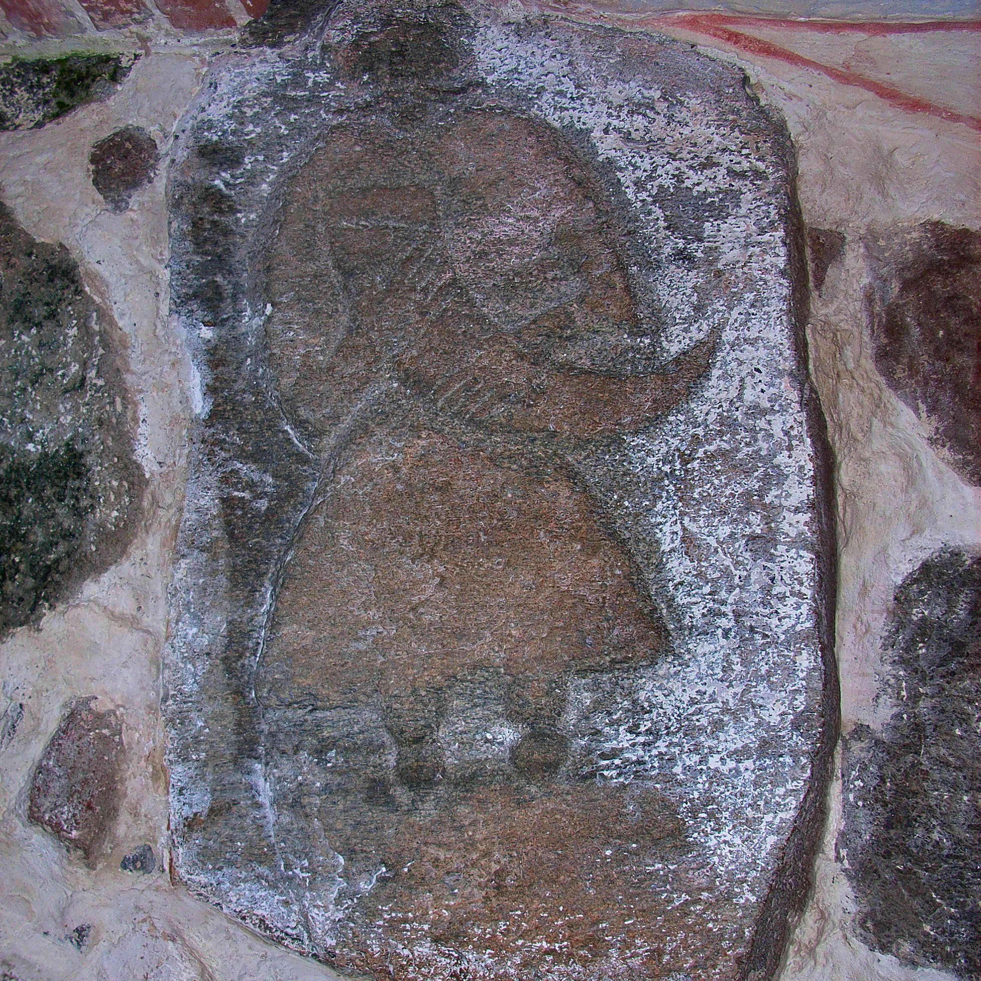 The Svantevit-Stone in the church in Altenkirchen on the island Rügen, before 1168. Artist: Pre-Christian Art