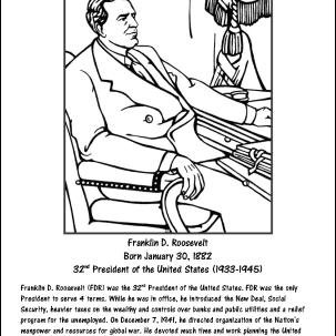 Franklin D. Roosevelt Coloring Page
