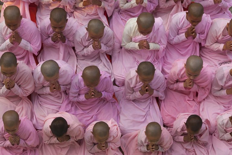 Young Buddhist Nuns