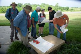 A group of archaeologists training together