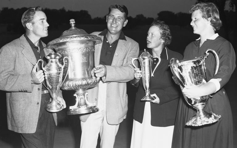 Golfers Frank Stranahan, Lew Worsham, Petty Berg and Wiffi Smith
