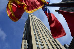 The 1933 Art Deco Skyscraper by Raymond Hood at Rockefeller Center, NYC