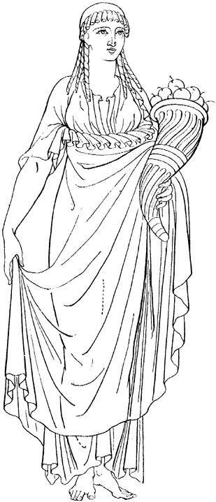 Woman With Cornucopia