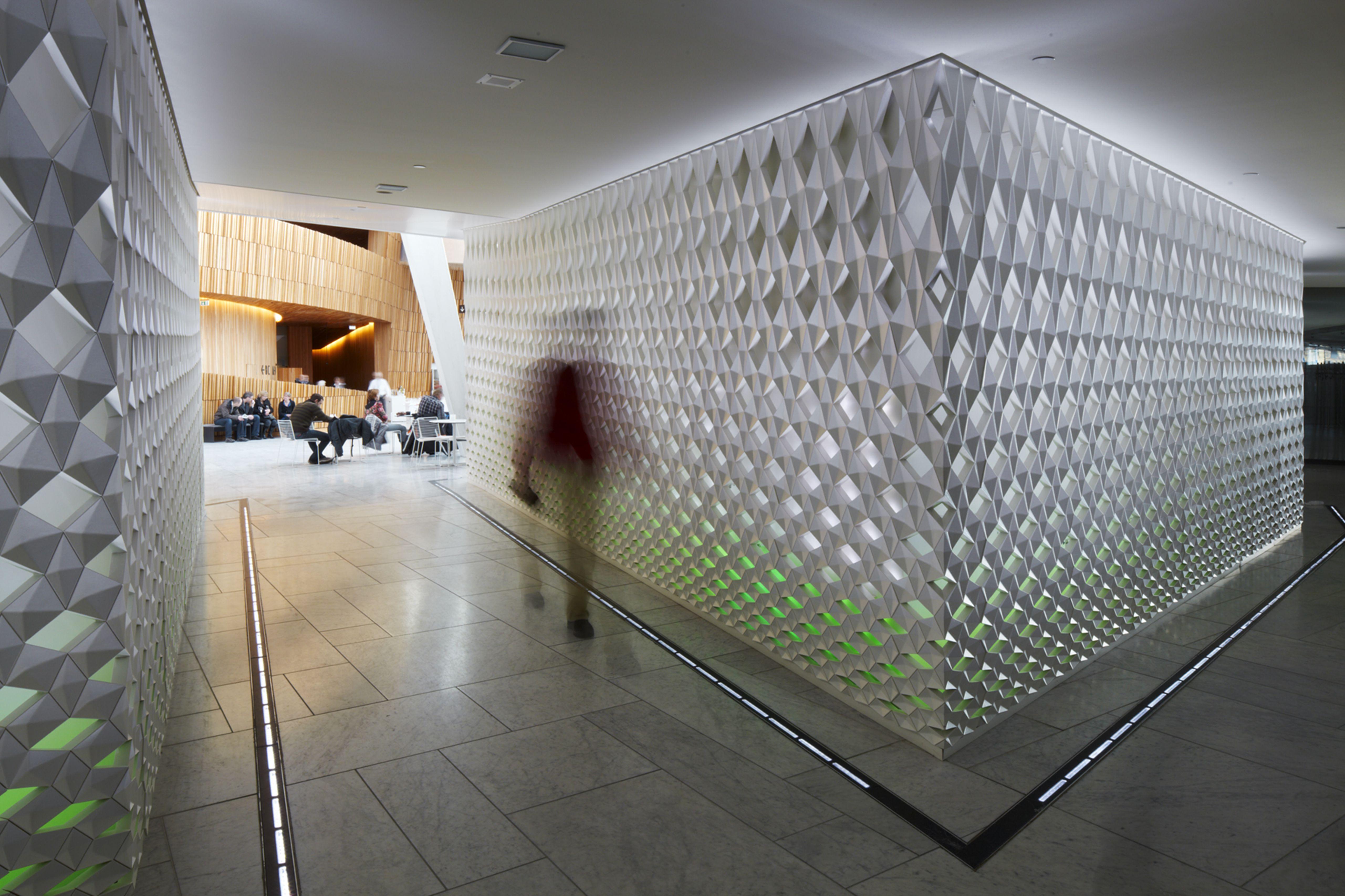 Illuminated Wall Panels at the Oslo Opera House