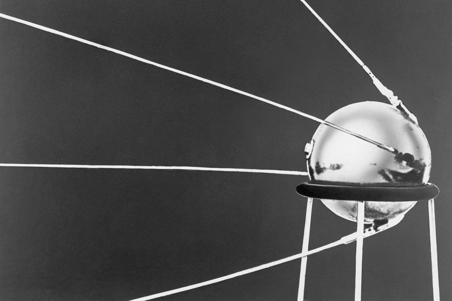 Sputnik I, the first manmade satellite to orbit the Earth, was launched by the Soviets on Oct. 4, 1957.