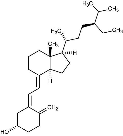 This is the chemical structure of sitocalciferol or vitamin D5.