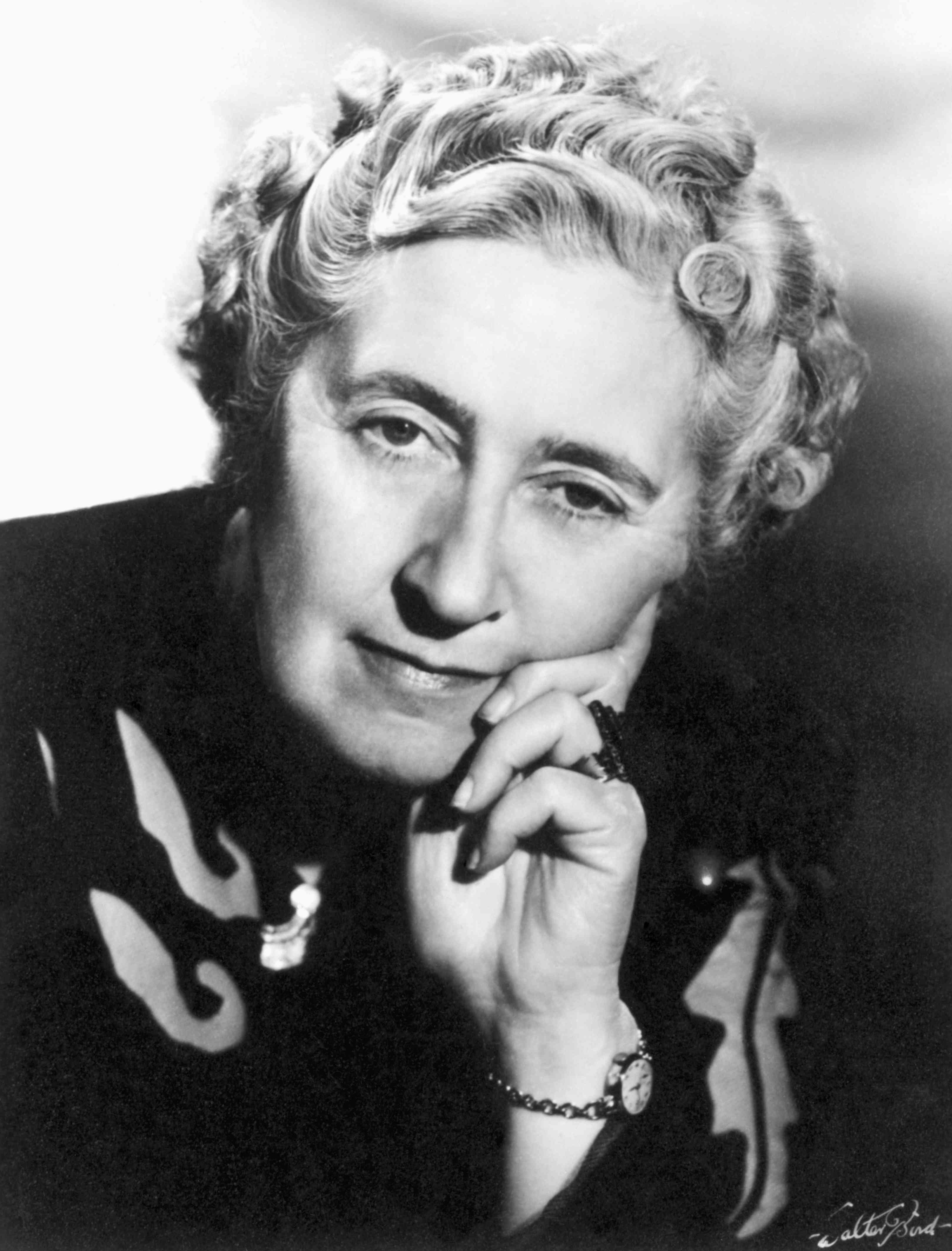 Portrait of Agatha Christie later in life