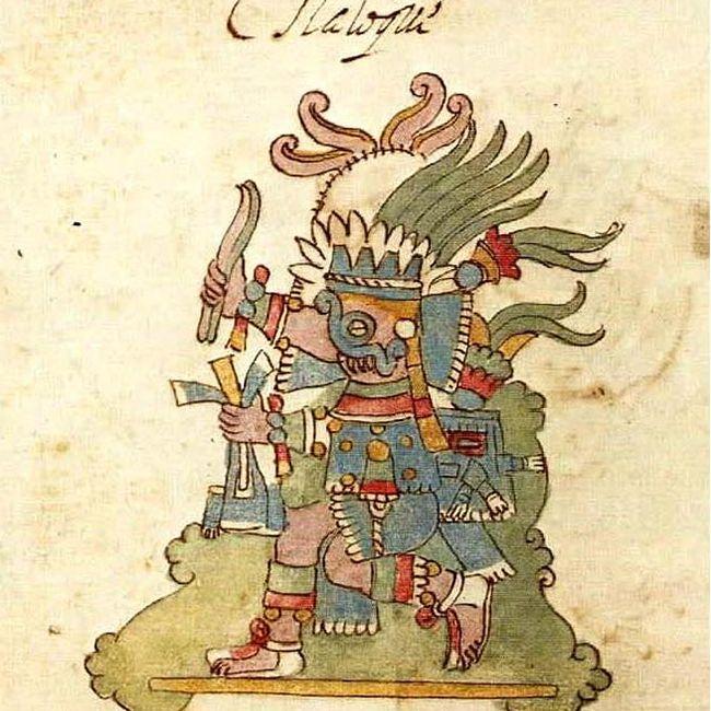 Aztec God of Rain Tlaloc, from the Rios Codex