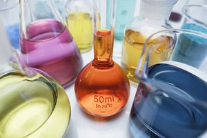 Volumetric flasks used in diluting solutes with solvents