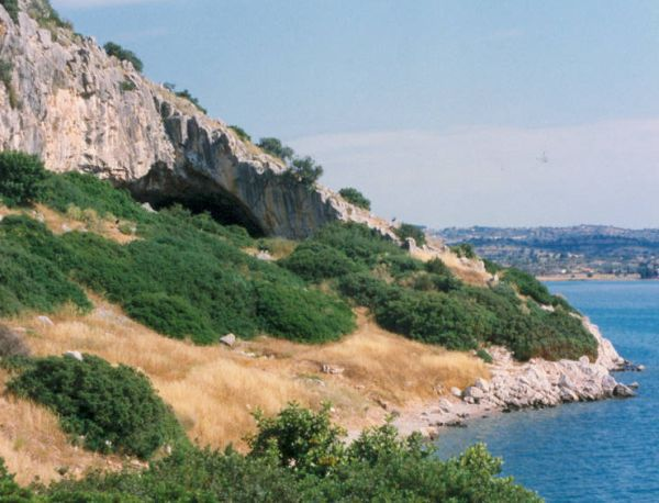 Franchthi Cave Entrance, Greece
