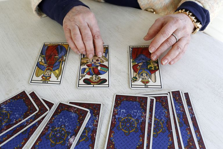 Tarot card reading, Yvelines, France, Europe