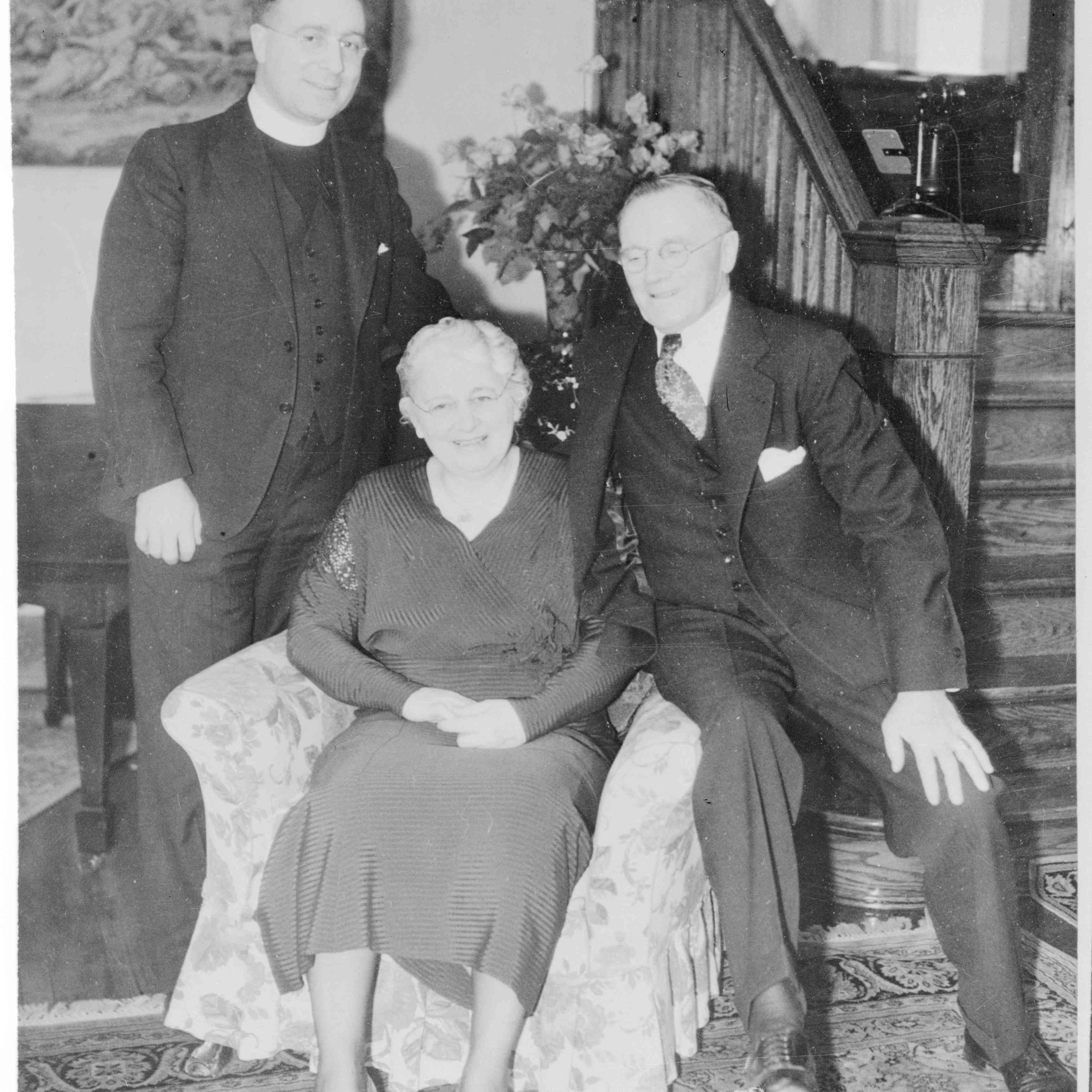 Portrait of Charles E. Coughlin and His Parents