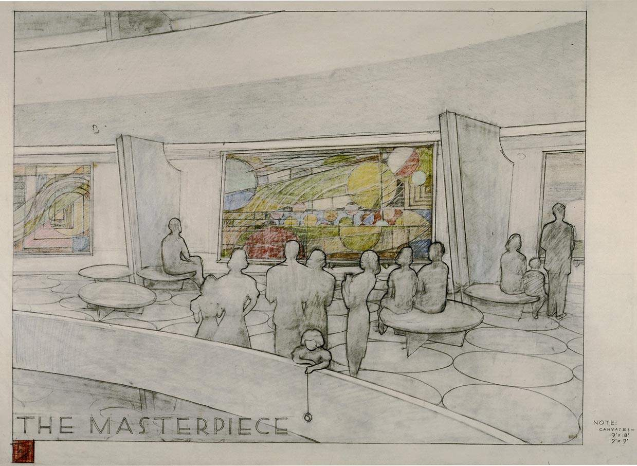 The Masterpiece, a Solomon R. Guggenheim Museum drawing by Frank Lloyd Wright