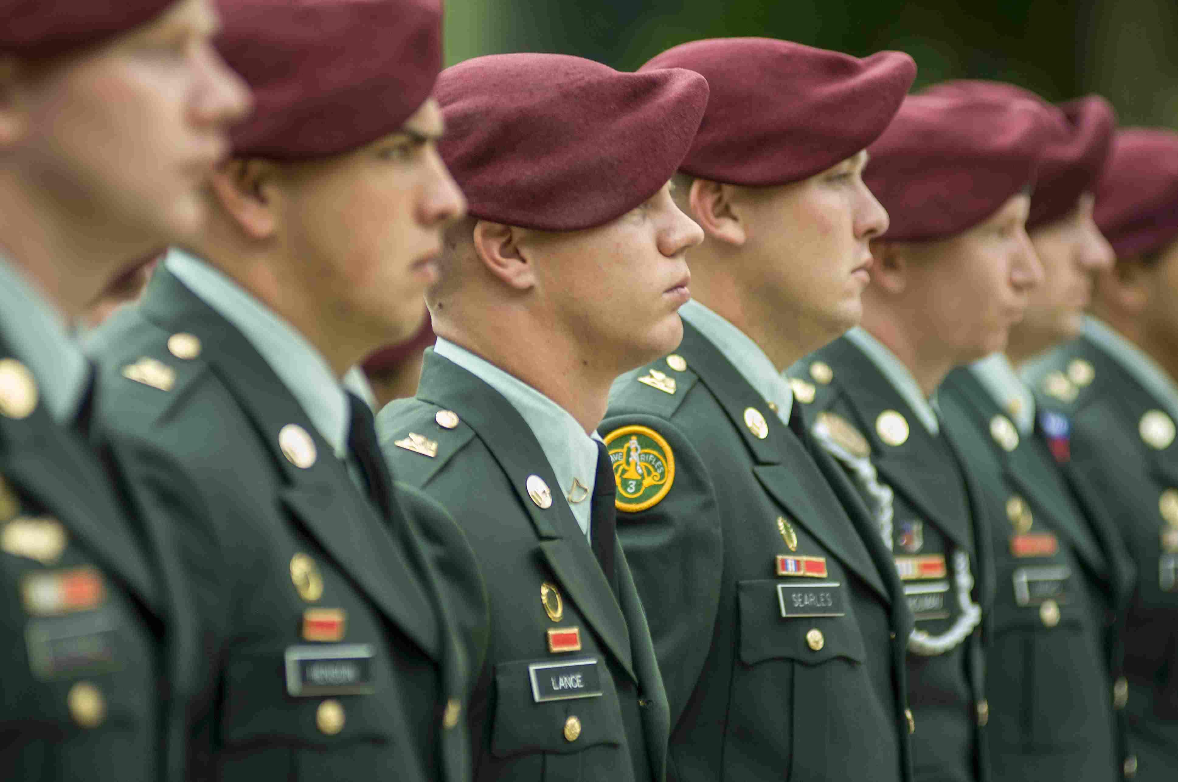 Memorial Day at American war cemetery