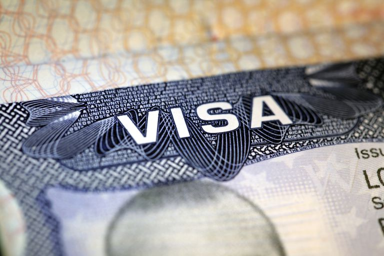 Visa de los Estados Unidos en pasaporte extranjero