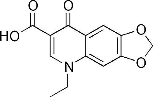 Esta es la estructura química del ácido oxolínico.