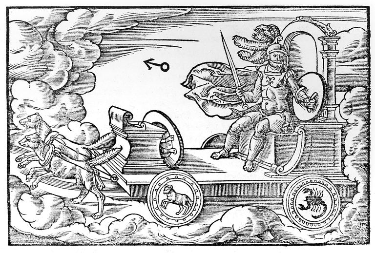 Mars, Roman god of war, 1569, by an anonymous artist