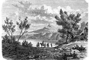 Illustration of a Legend around Alba Longa