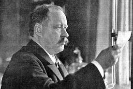 Svante Arrhenius (1859-1927) in his 1909 laboratory