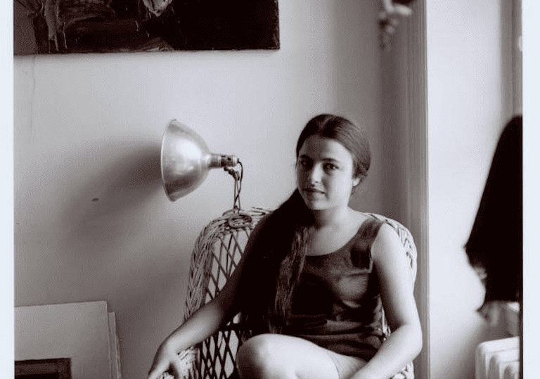 Photograph of Eva Hesse, ca. 1959.